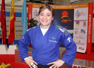 La judoka Conchi Bellor�n posando.
