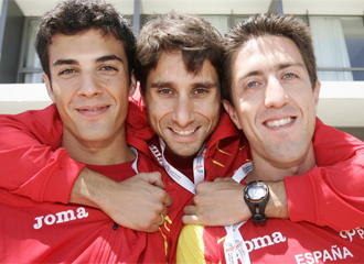 Miguel Ángel López, Juan Manuel Molina y José Ignacio Díaz.