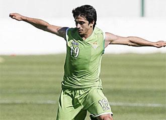 Jonathan Pereira durante un entrenamiento.