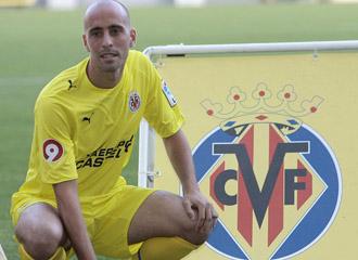 Borja Valero el d�a de su presentaci�n con el Villarreal