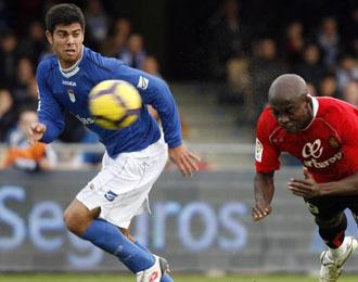 Aythami en un partido de la pasada temporada con el Xerez