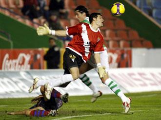 El portero del C�rdoba, Ra�l Navas, es otro de los futbolistas que ha sido se�alado