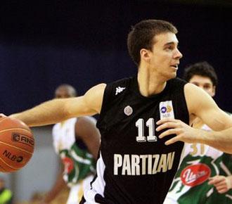 El alero Uros Tripkovic en su etapa con el Partiz�n de Belgrado.