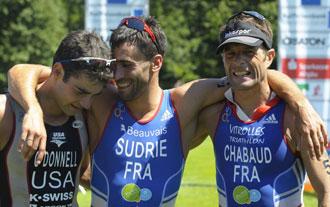 El franc�s Sylvain Sudrie celebra su primer puesto en el Campeonato del mundo