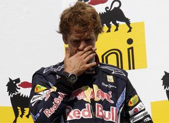 Vettel, cariacontecido, tras el GP de Hungr�a