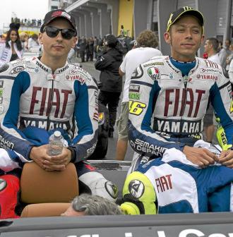 Valentino Rossi y Jorge Lorenzo, juntos en Laguna Seca