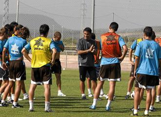 El Levante durante un entrenamiento.