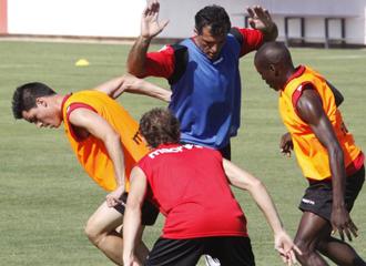El Malloca entrenando en pretemporada.