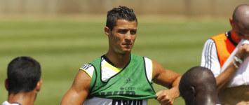 Cristiano, durante el entrenamiento