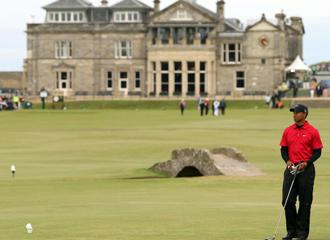 Woods durante el Open brit�nico de St Andrews.