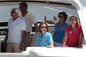 Su Majestad Do�a Sof�a en la bah�a de Palma de Mallorca.