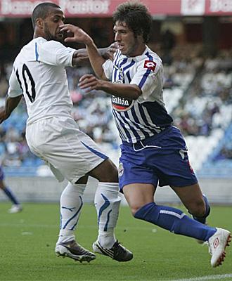 Rubén Pérez fue de lo mejor del Deportivo en el Teresa Herrera