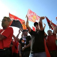 Aficionados del Mallorca se manifiestan contra la UEFA