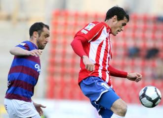 Calle, durante un encuentro de la pasada temporada con el Girona