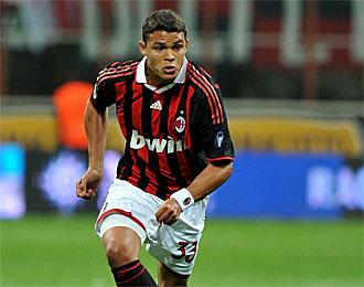 Thiago Silva, en un partido con el Milan