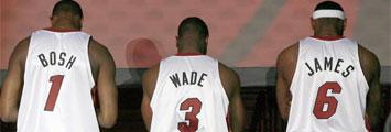 Chris Bosh, Dwyane Wade y LeBron James