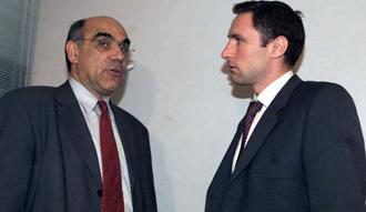 Garc�a Chapuli junto a Salvador Alemany, en una imagen de 2000