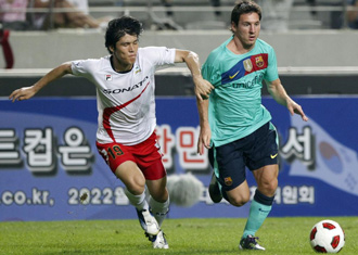 Messi marc� dos golazos