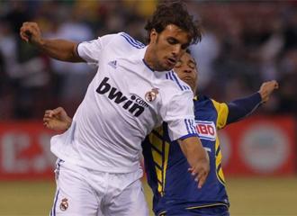 Pedro Le�n, durante el partido contra el Am�rica.