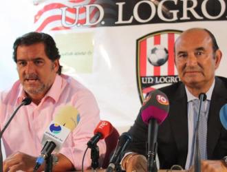 Jos� Campos junto al presidente del Logro��s, F�lix Revuelta