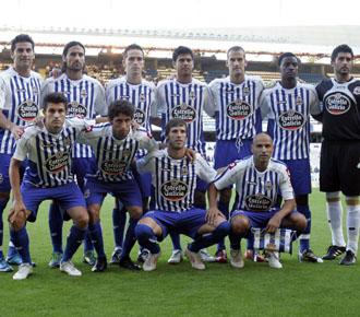 El once inicial del deportivo en el amistoso jugado en el estadio de Riazor ante el Newcastle.