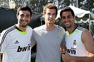 Murray posa con Albiol y Arbeloa