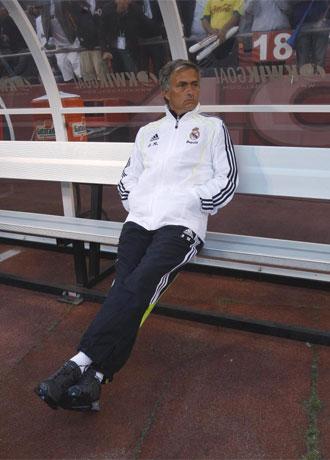 Mourinho, durante el partido del Real Madrid contra el Am�rica.
