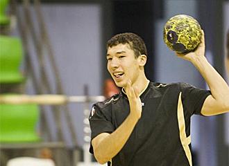 Dujshebaev durante un entrenamiento.