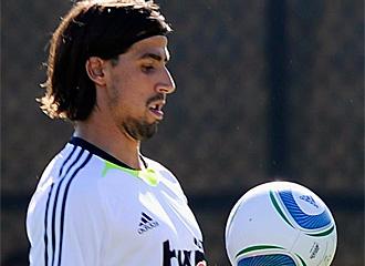 Sami Khedira durante un entrenamiento.