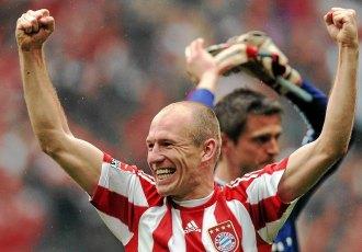 Robben fue unos de los principales art�fices del doblete, Liga y Copa, del conjunto de Van Gaal
