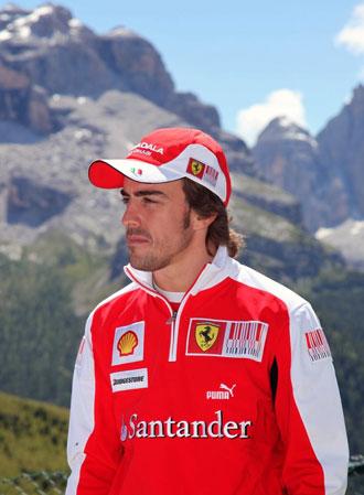 Fernando Alonso, de vacaciones, se acerc� a la localidad alpina italiana de Madonna di Campiglio