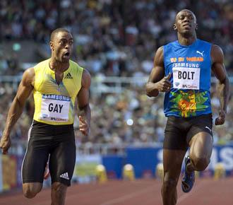 Usain Bolt perdi� ante Tyson Gay en Estocolmo.
