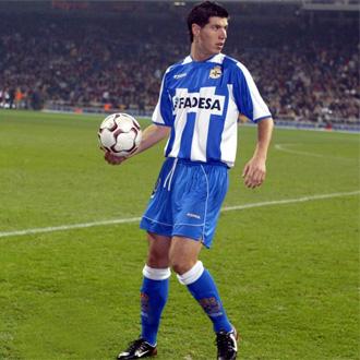 Albert Luque, durante su etapa como jugador del Deportivo de la Coru�a