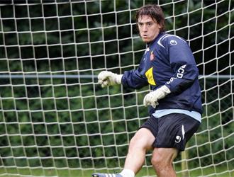 Cristian �lvarez durante un entrenamiento