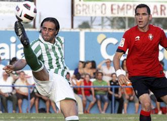 Sergio Garc�a en un partido de pretemporada ante Osasuna