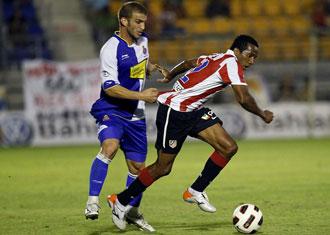 Javi M�rquez, durante el partido ante el Atl�tico de Madrid