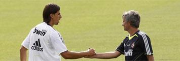Khedira y Mourinho