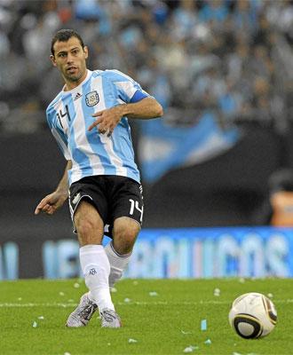 Mascherano, durante un encuentro con la selecci�n argentina.