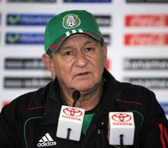 Erique meza en rueda de prensa ayer al finalizar el amistoso entre M�xico y Espa�a.