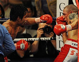 El boxeador filipino Manny Pacquiao, durante un combate