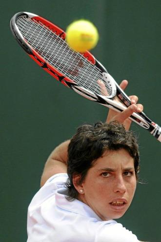 Carla Su�rez durante el torneo de Marbella el pasado mes de mayo.