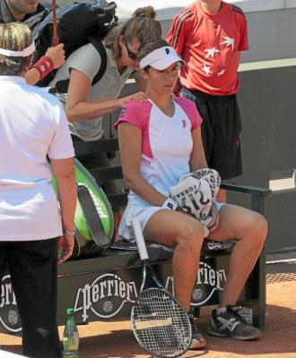 Mar�a Jos� Mart�nez durante el �ltimo Roland Garros.