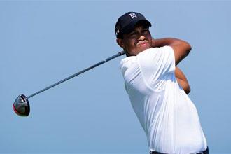 Tiger Woods en la primera jornada del Campeonato PGA.