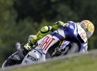 Rossi, durante los entrenamientos en Brno