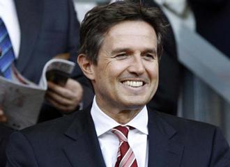 Christian Purslow, director ejecutivo del Liverpool, durante un partido de su equipo.