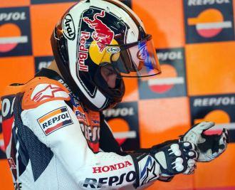 Dani Pedrosa, en su 'box' en Brno
