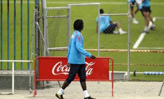 Ibrahima fuera del campo de entrenamiento