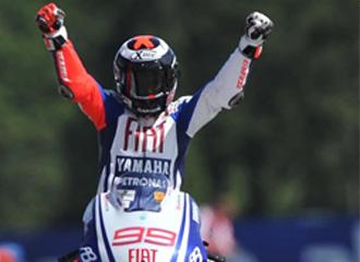 Jorge Lorenzo celebra la victoria