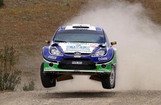 Xevi Pons en un momento del Rally de Portugal donde fue segundo