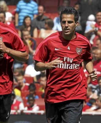 F�bregas se entrena con el Arsenal.